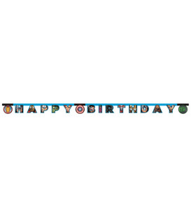 Festone snodabile Happy Birthday Avengers Mighty 1 pz