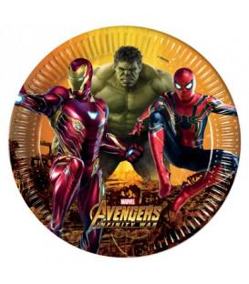 Piatto 23 cm Avengers Infinity War 8 pz