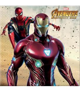 Tovagliolo 33 cm Avengers Infinity War 3 confezioni