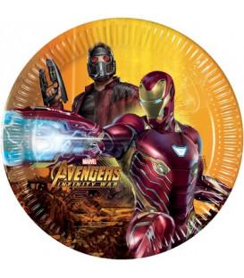 Piatto 20 cm Avengers Infinity War 8 pz