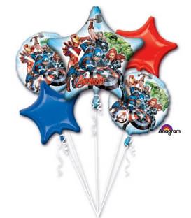 Bouquet 5 palloni Avengers 5 pz