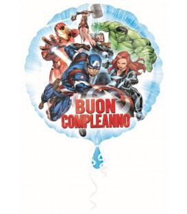 """Pallone foil standard 17"""" - 42 cm Avengers Buon Compleanno 1 pz"""