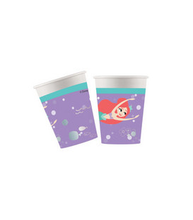 Bicchiere carta 200 ml Ariel Under The Sea 8 pz