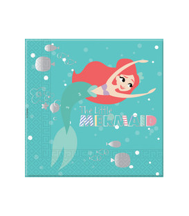 Tovagliolo 33 cm 3 veli Ariel Under The Sea