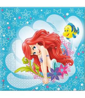 Tovagliolo 33 x 33 cm Ariel Disney