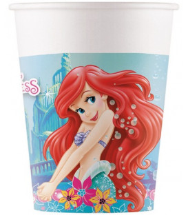 Bicchiere carta 200 ml Ariel Marmaid 8 pz
