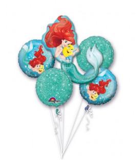 Bouquet 5 palloni Ariel 5 pz