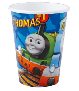 Bicchiere carta 250 ml Trenino Thomas 8 pz