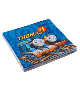 Tovagliolo 33 x 33 cm Trenino Thomas 3 confezioni