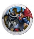 Piatto 23 cm BATMAN VS SUPERMAN 8 pz
