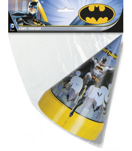 Cappello cartoncino cono Batman 8 pz