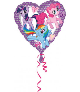"Pallone foil standard 17"" - 42 cm My Little Pony Heart 1 pz"