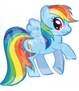 """Pallone foil Supershape 27"""" - 68 cm My Little Pony Rainbow Dash 1 pz"""