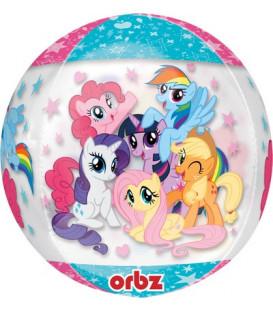 """Pallone foil ORBZ trasparente 16"""" - 40 cm My Little Pony 1 pz"""