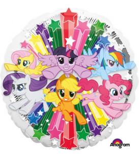 "Pallone foil standard 17"" - 42 cm My Little Pony Gang 1 pz"