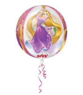 "Pallone foil ORBZ trasperente 16"" - 40 cm Rapunzell 1 pz"