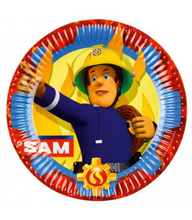 Piatto 23 cm Sam il Pompiere 8 pz