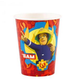 Bicchiere 266 ml Sam il Pompiere 8 pz