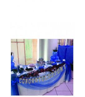 Festone Congratulazioni XL argento metallizzato 225 x 15 cm 1 pz