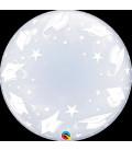 """Pallone Bubble 24""""-61cm Graduation Caps 1 pz"""