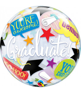 "Pallone Bubble 22""-56cm Graduation 1 pz"