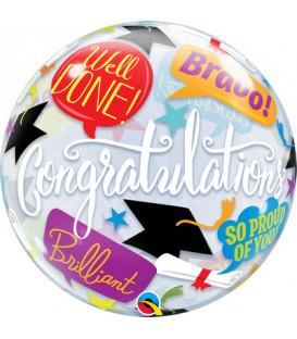 """Pallone Bubble 22""""-56cm Graduation 1 pz"""