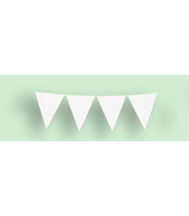 Festone Bandierine 10 metri plastica Bianco 1 pz