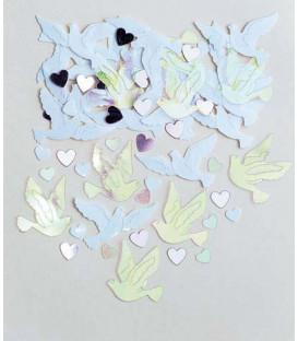 Confetti cuori e colombi 14 gr