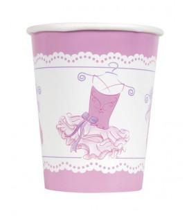 Bicchiere carta 266 ml Pink Ballerina 8 pz