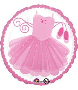 """Pallone foil standard 17"""" - 42 cm Ballerina Tutu 1 pz"""