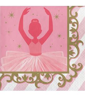Tovagliolo 33 x 33 cm Ballerina -Twinkle Toes 3 confezioni