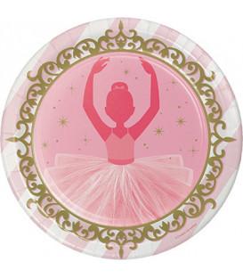 Piatto 23 cm Ballerina - Twinkle Toes 8 pz