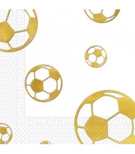 Tovagliolo 33 x 33 cm Calcio Football Gold 3 confezioni