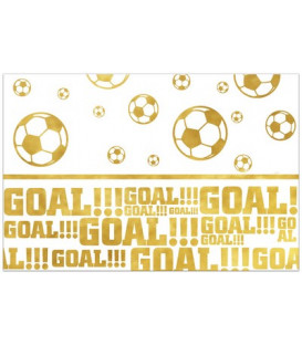 Tovaglia plastica 120 x 180 cm Calcio Football Gold 1 pz