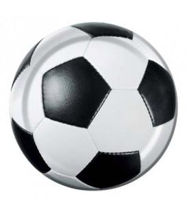 Piatto 18 cm Calcio Fanatic Soccer 8 pz