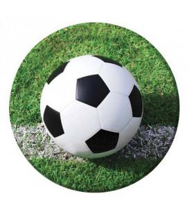 Piatto 23 cm Calcio Fanatic Soccer 8 pz