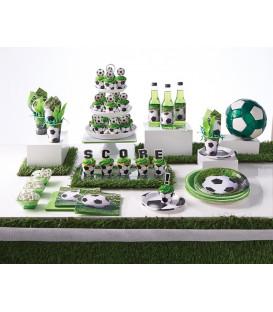 Tovagliolo 25 x 25 cm Calcio Fanatic Soccer 3 confezioni
