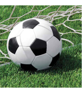 Tovagliolo 33 x 33 cm Calcio Fanatic Soccer 3 confezioni