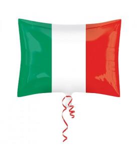 Pallone foil 30 x 43 cm Bandiera Italiana NON CONFEZIONATO