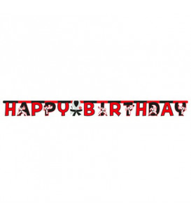 Festone Happy Birthday 305 x 18 cm Karate 1 pz