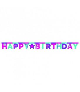 Festone Happy Birthday 300 x 17 cm Ginnastica 1 pz