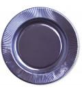 Piatti Piani di Carta a Righe Lavanda Metallizzato