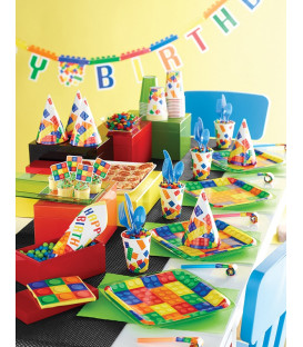 Tovaglia plastica 137 x 260 cm Block Party 1 pz