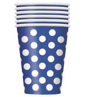 Bicchiere 355 ml Blu Pois Bianchi 6 pz