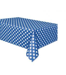 Tovaglia plastica 137 x 274 cm Blu Pois Bianchi 1 pz