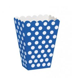 Contenitore 12 x 8 cm Blu Pois Bianchi 8 pz