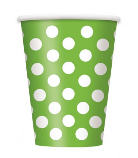 Bicchiere Verde Lime Pois Bianchi 355 ml