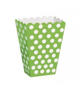 Contenitore 12 x 8 cm Verde Lime Pois Bianchi 8 pz