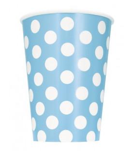 Bicchiere 355 ml Azzurro Pois Bianchi 6 pz