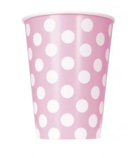 Bicchiere 355 ml Rosa Pois Bianchi 6 pz